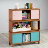 District Storage Bench/Bookcase (Wheat)